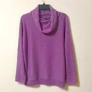 Brooks Brothers Cashmere Lilac Cowl Neck Sweater